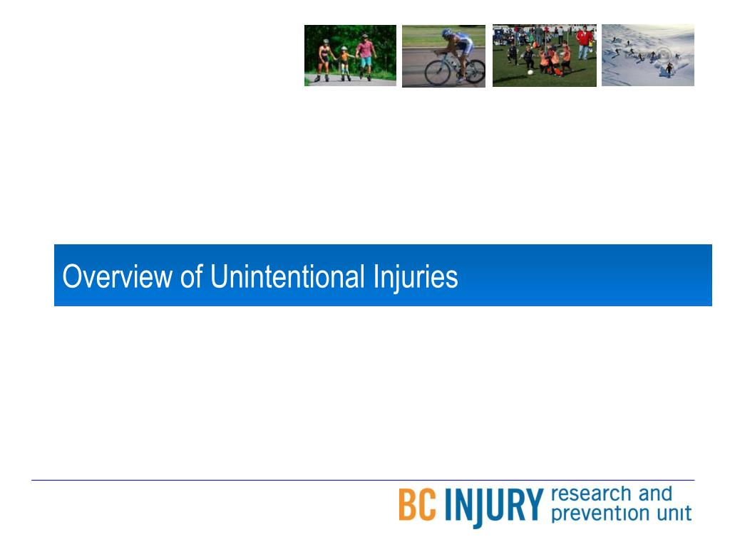 Overview of Unintentional Injuries
