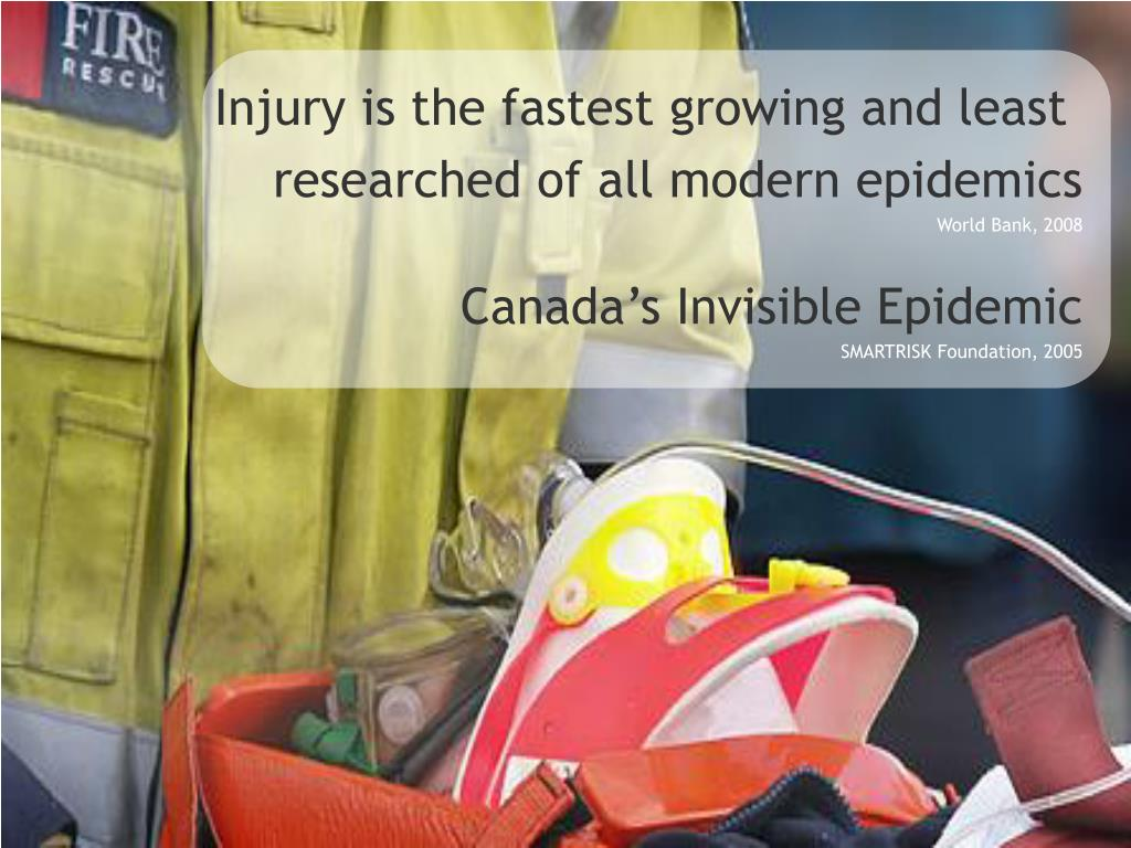 Injury is the fastest growing and least