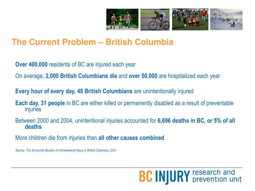 The Current Problem – British Columbia