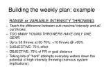 building the weekly plan example