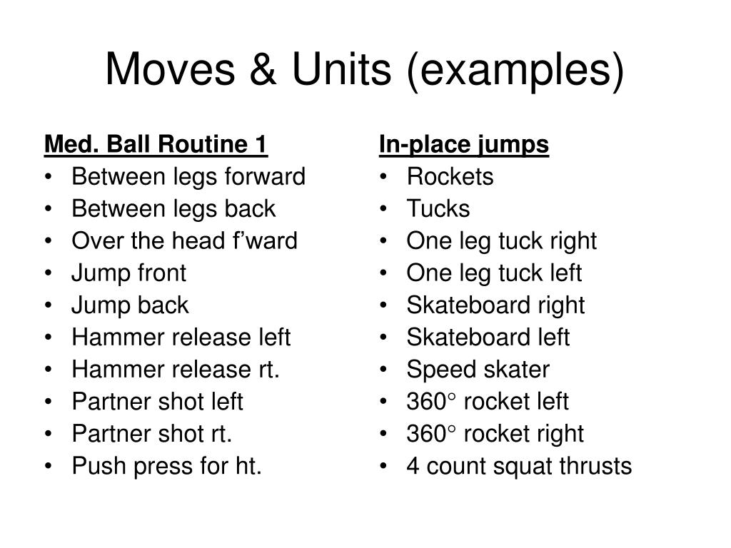 Med. Ball Routine 1