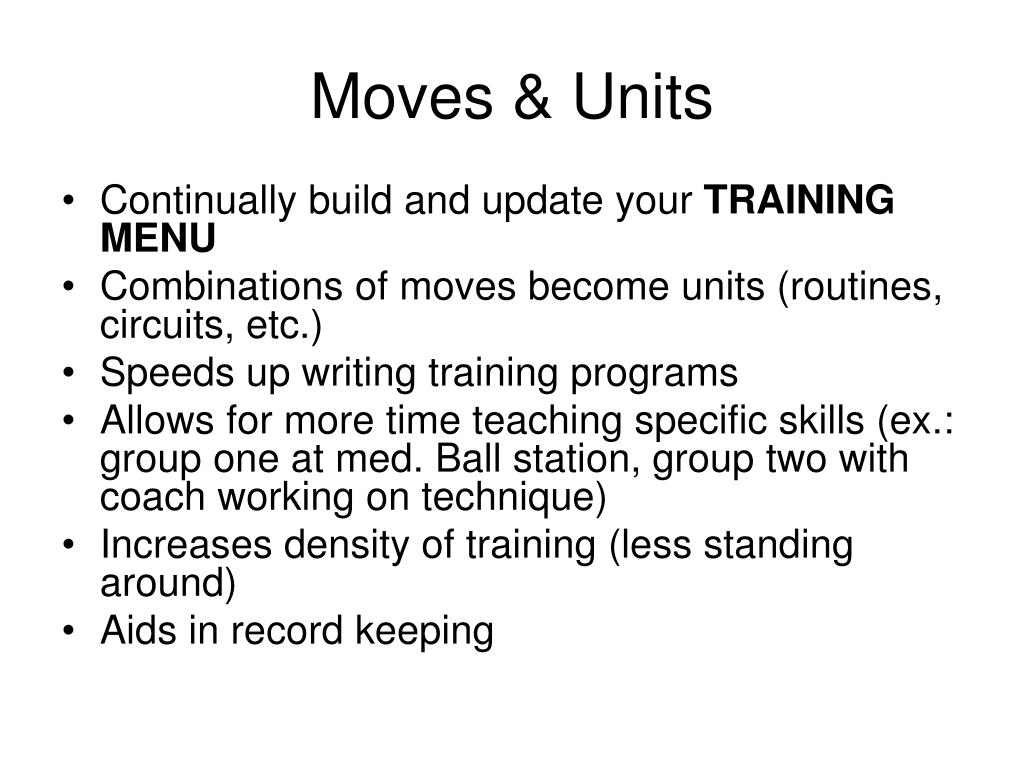 Moves & Units
