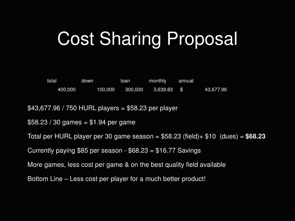 Cost Sharing Proposal