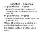 logistics athletics
