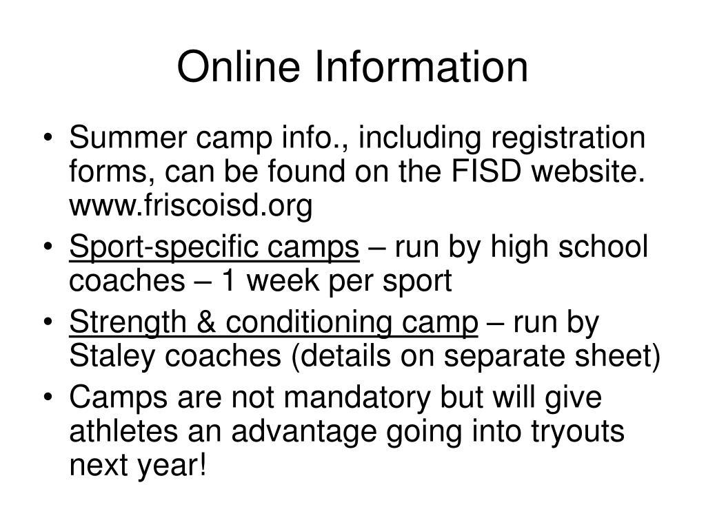 Online Information