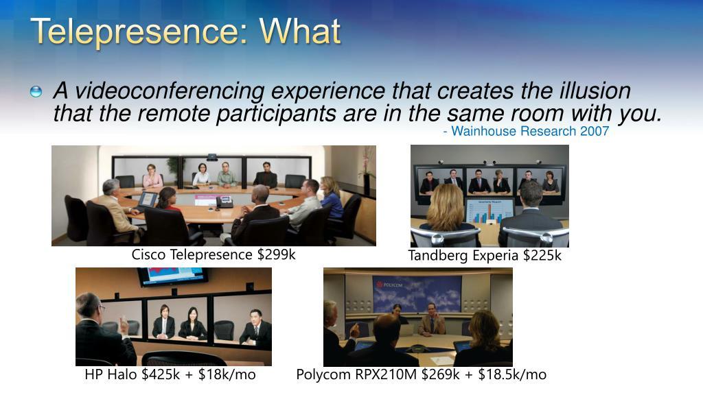 Telepresence: What