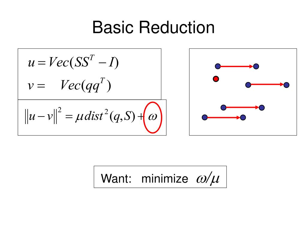 Basic Reduction