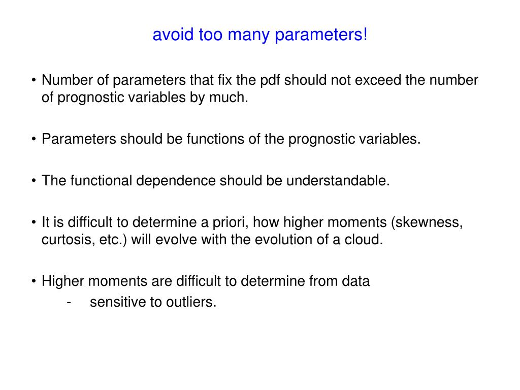 avoid too many parameters!