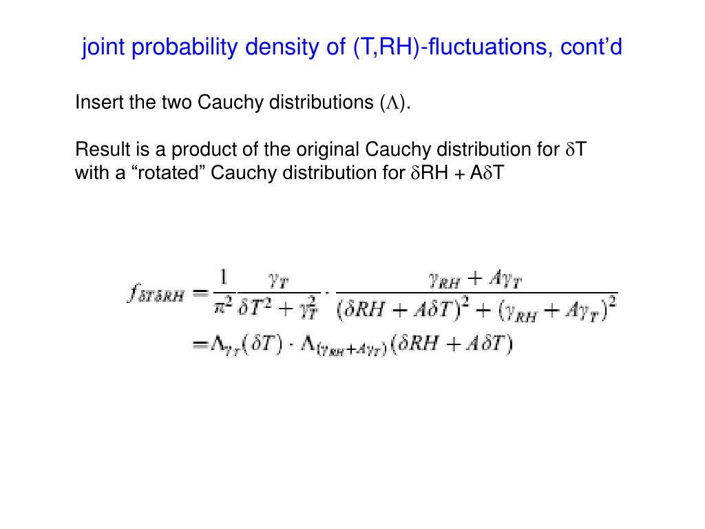 joint probability density of (T,RH)-fluctuations, cont'd