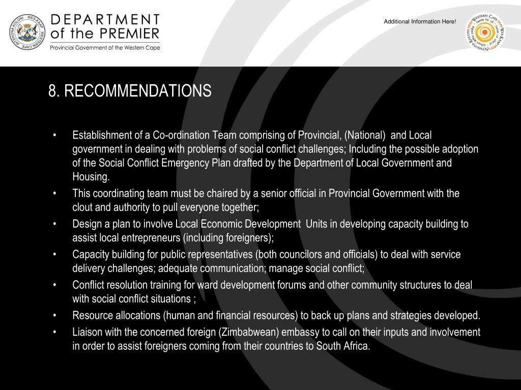 8. RECOMMENDATIONS