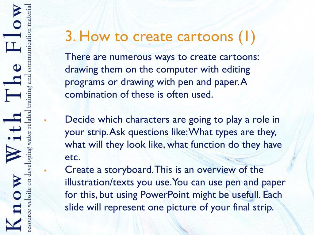 3. How to create cartoons (1)