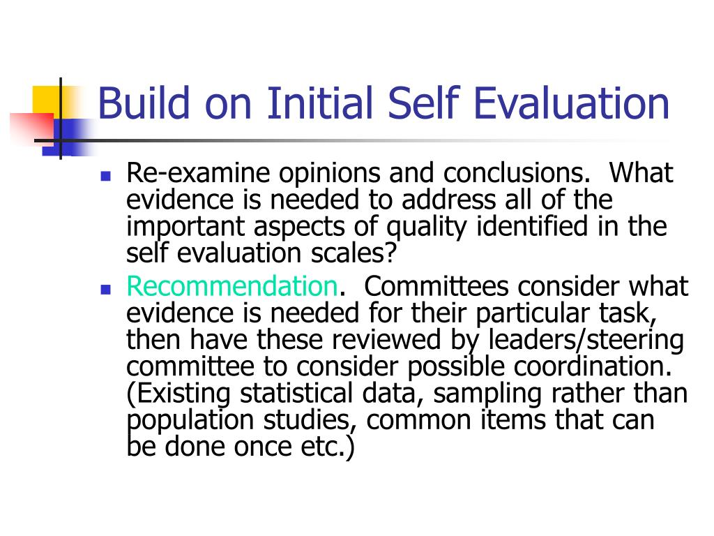 Build on Initial Self Evaluation
