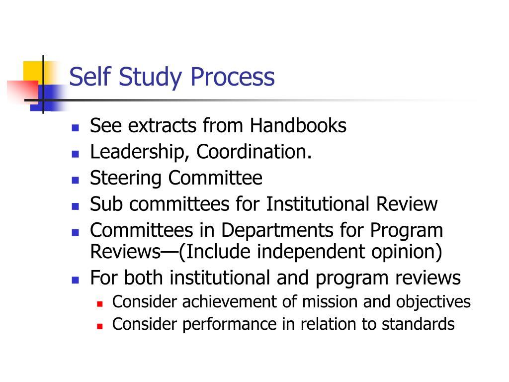Self Study Process