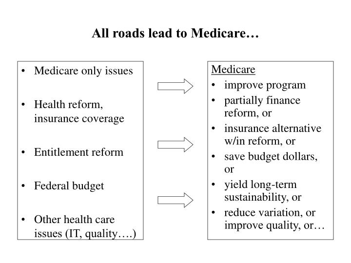 All roads lead to medicare