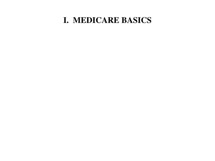 I.  MEDICARE BASICS
