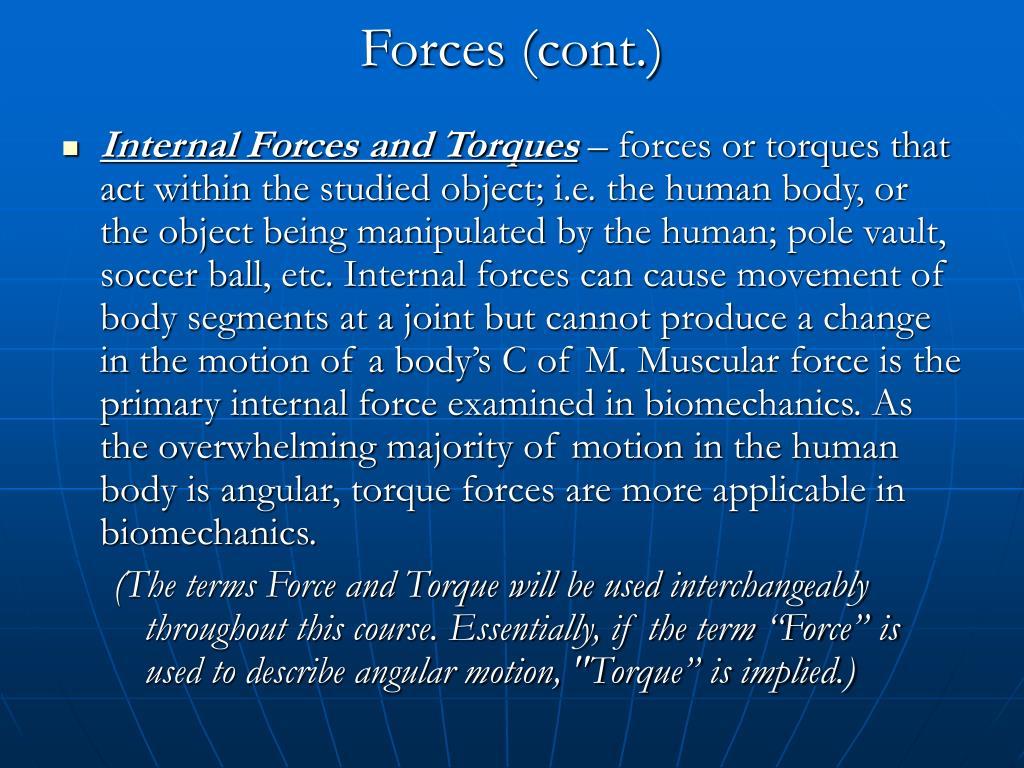 Forces (cont.)
