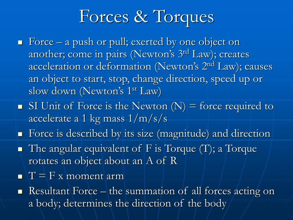 Forces & Torques