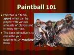 paintball 101