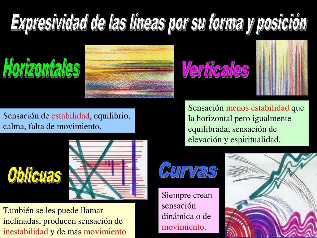 Expresividad de las líneas por su forma y posición