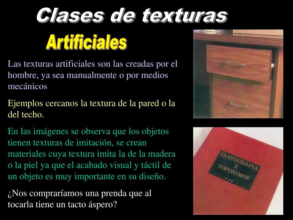 Clases de texturas