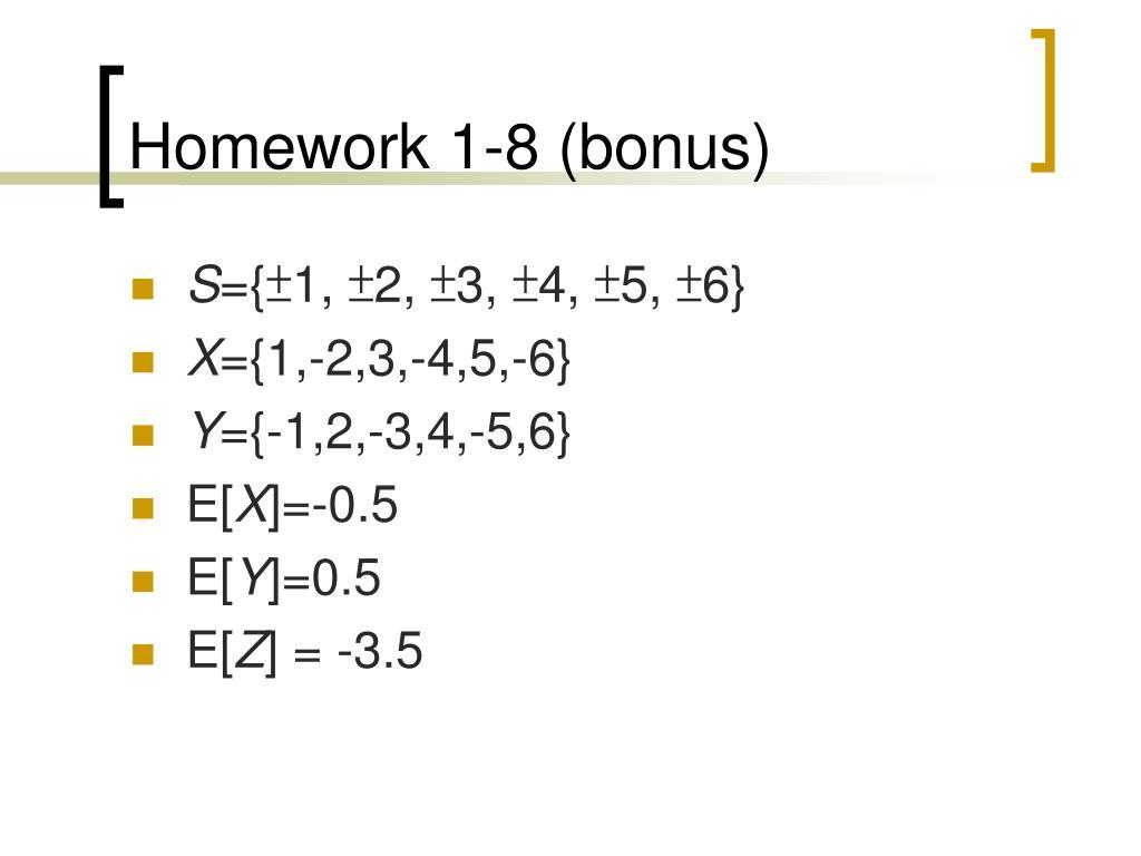 Homework 1-8 (bonus)