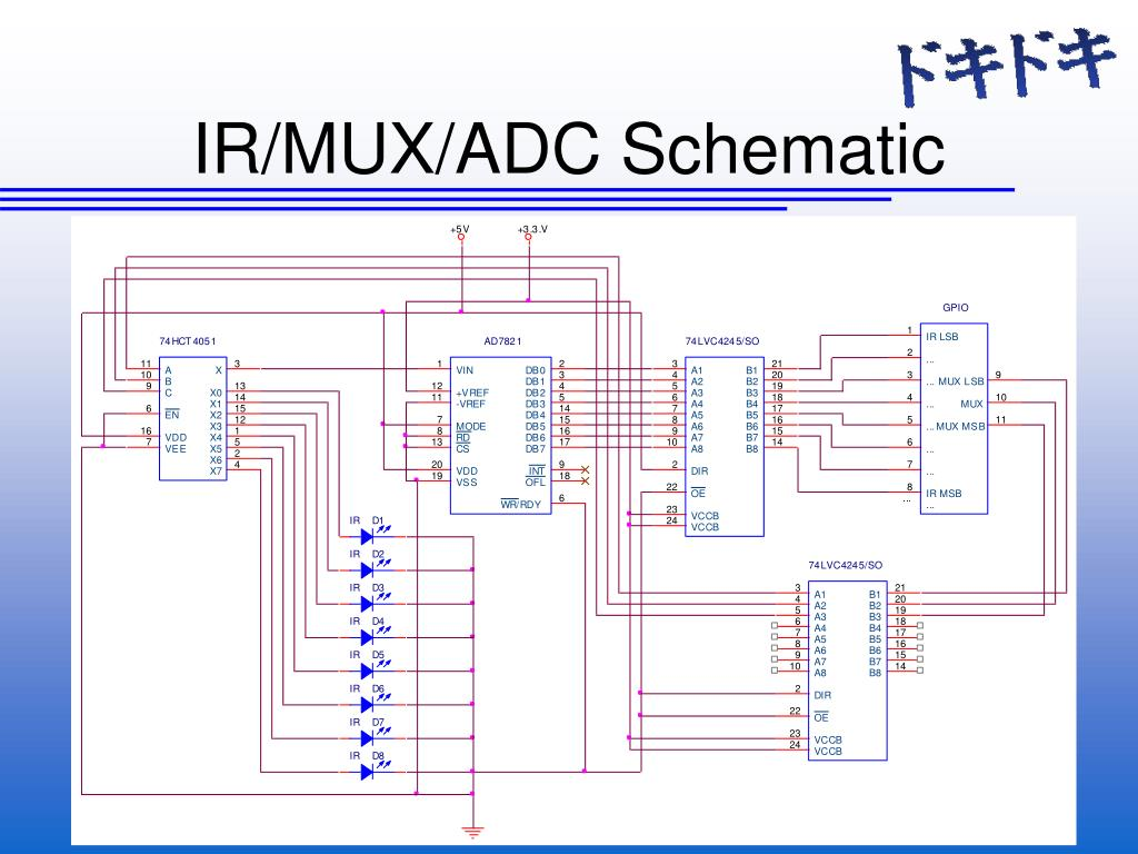 IR/MUX/ADC Schematic