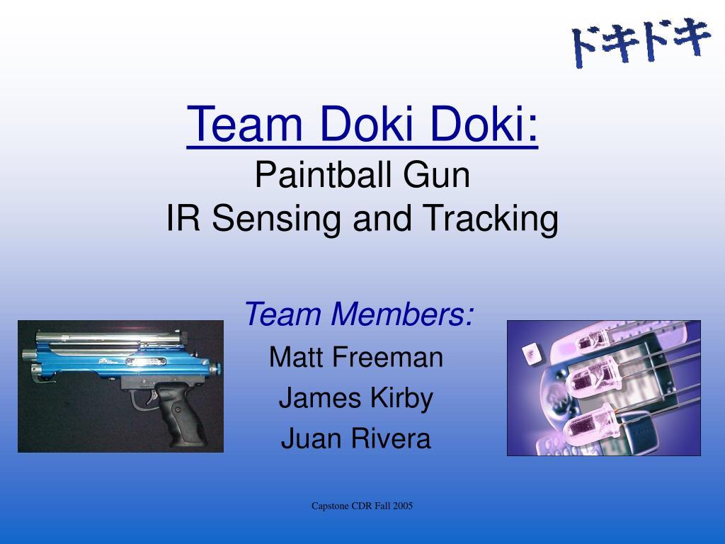 team doki doki paintball gun ir sensing and tracking
