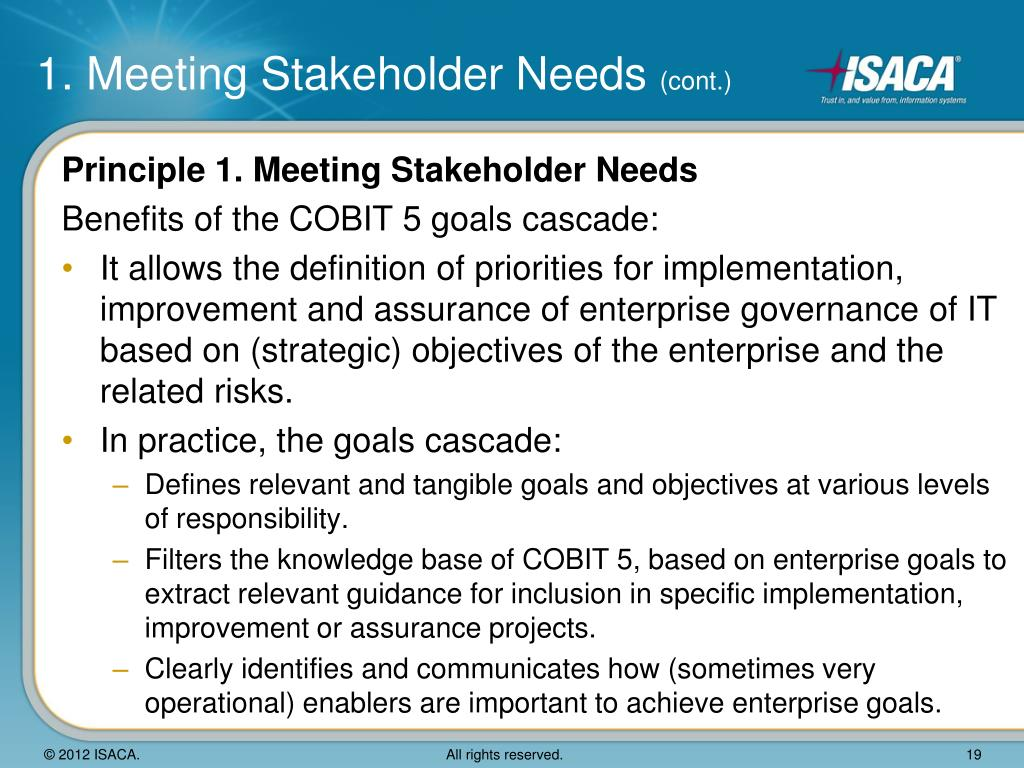 meeting stakeholder quality needs