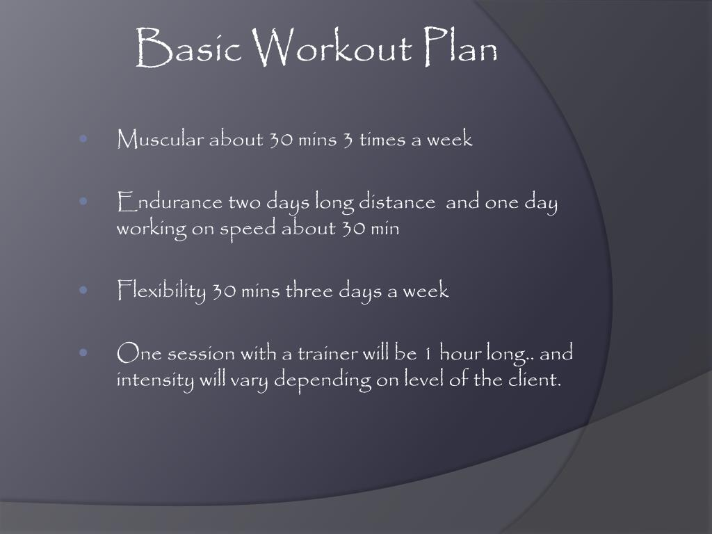 Basic Workout Plan