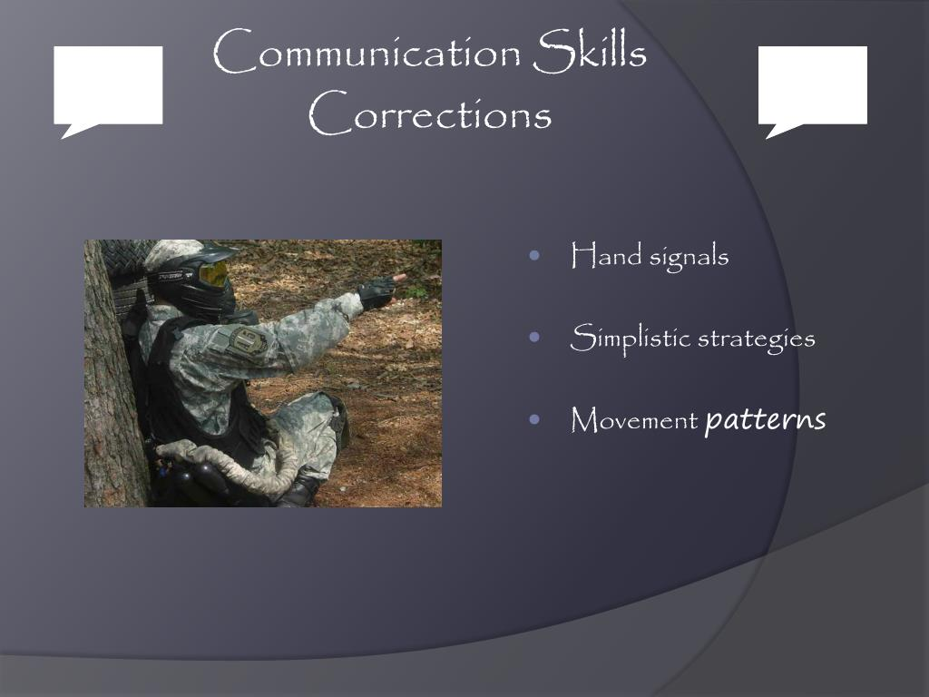 Communication Skills Corrections