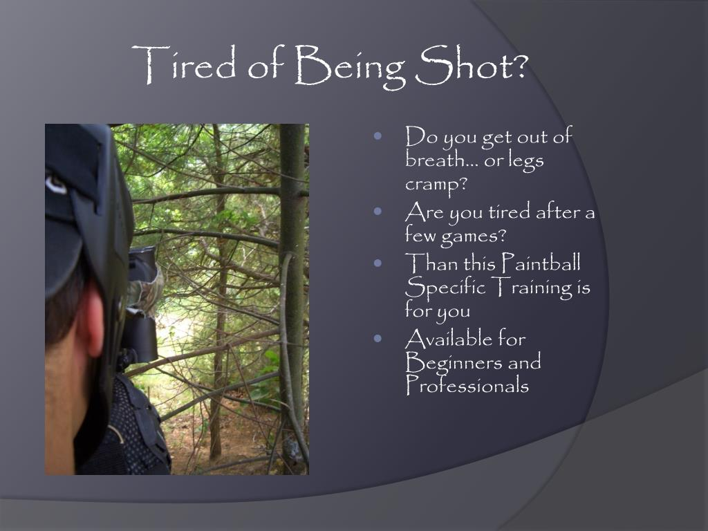 Tired of Being Shot?