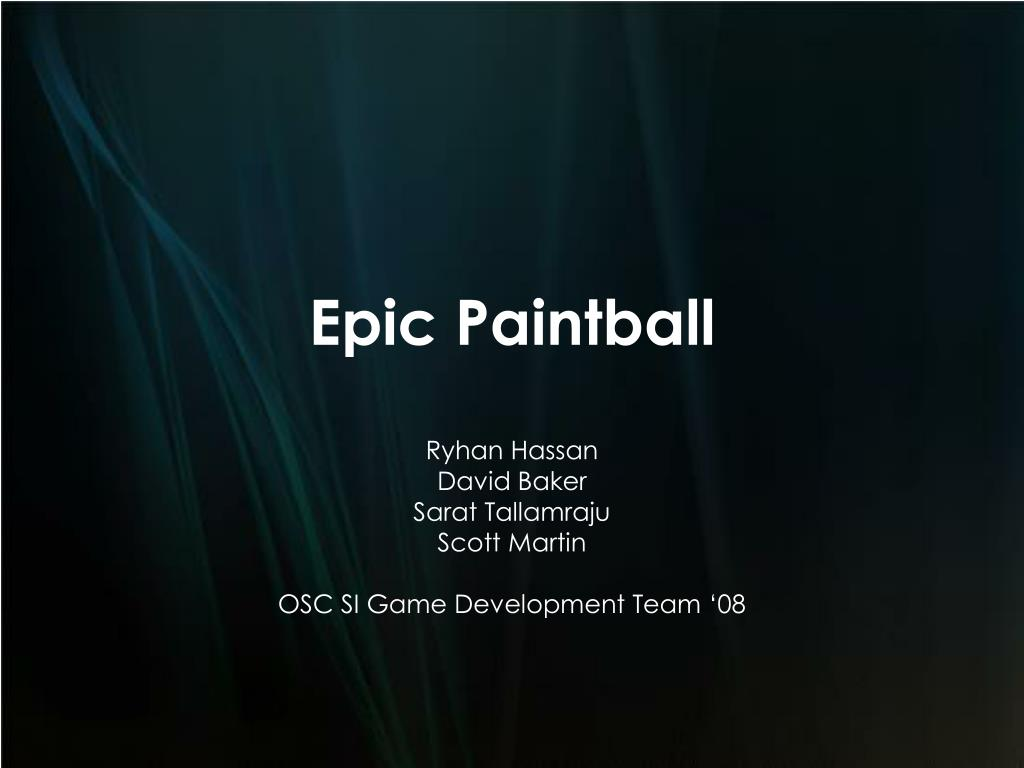 Epic Paintball