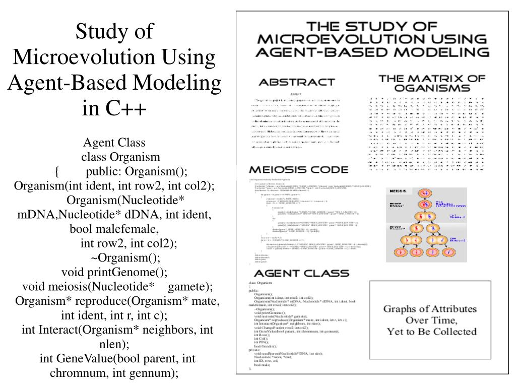 Study of Microevolution Using Agent-Based Modeling in C++