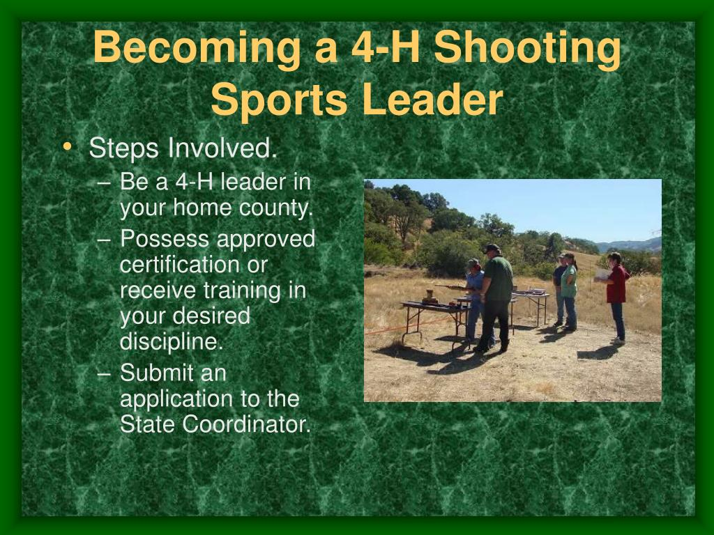 Becoming a 4-H Shooting Sports Leader