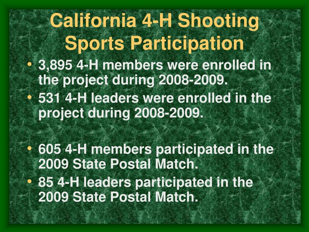 California 4-H Shooting Sports Participation