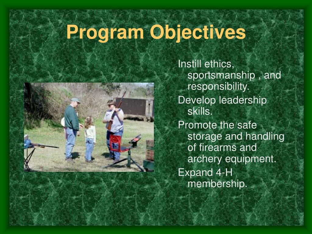 Program Objectives