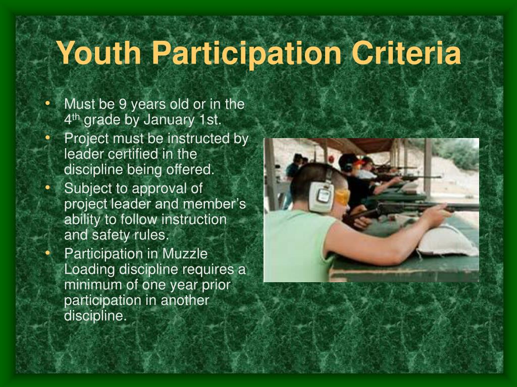 Youth Participation Criteria