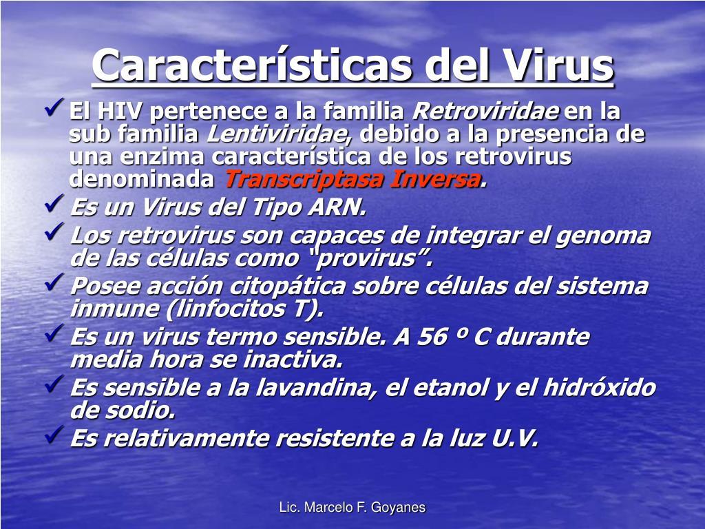 Características del Virus