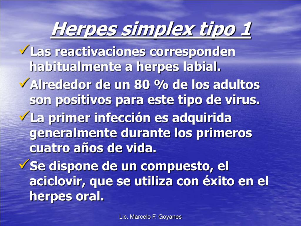 Herpes simplex tipo 1