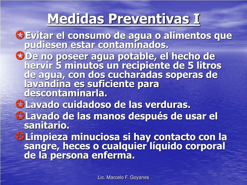 Medidas Preventivas I