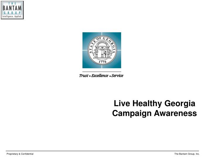 Live Healthy Georgia Campaign Awareness