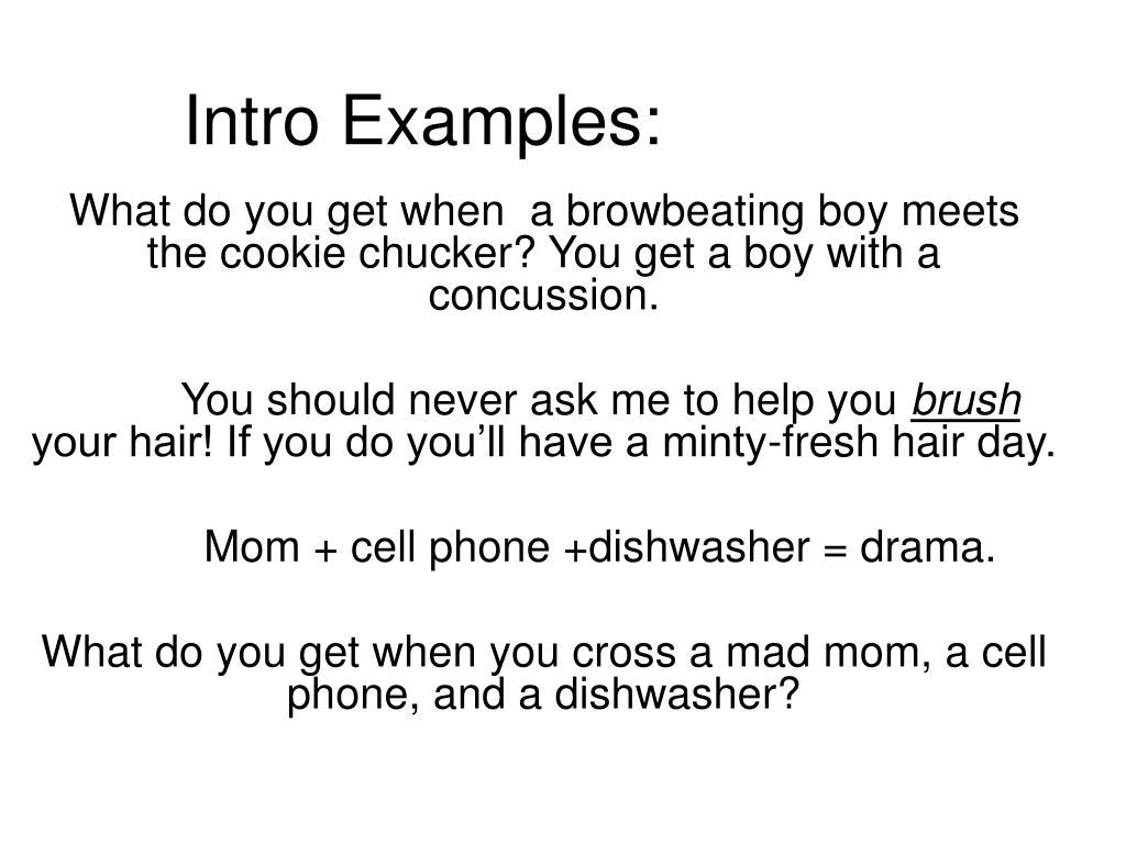 Intro Examples: