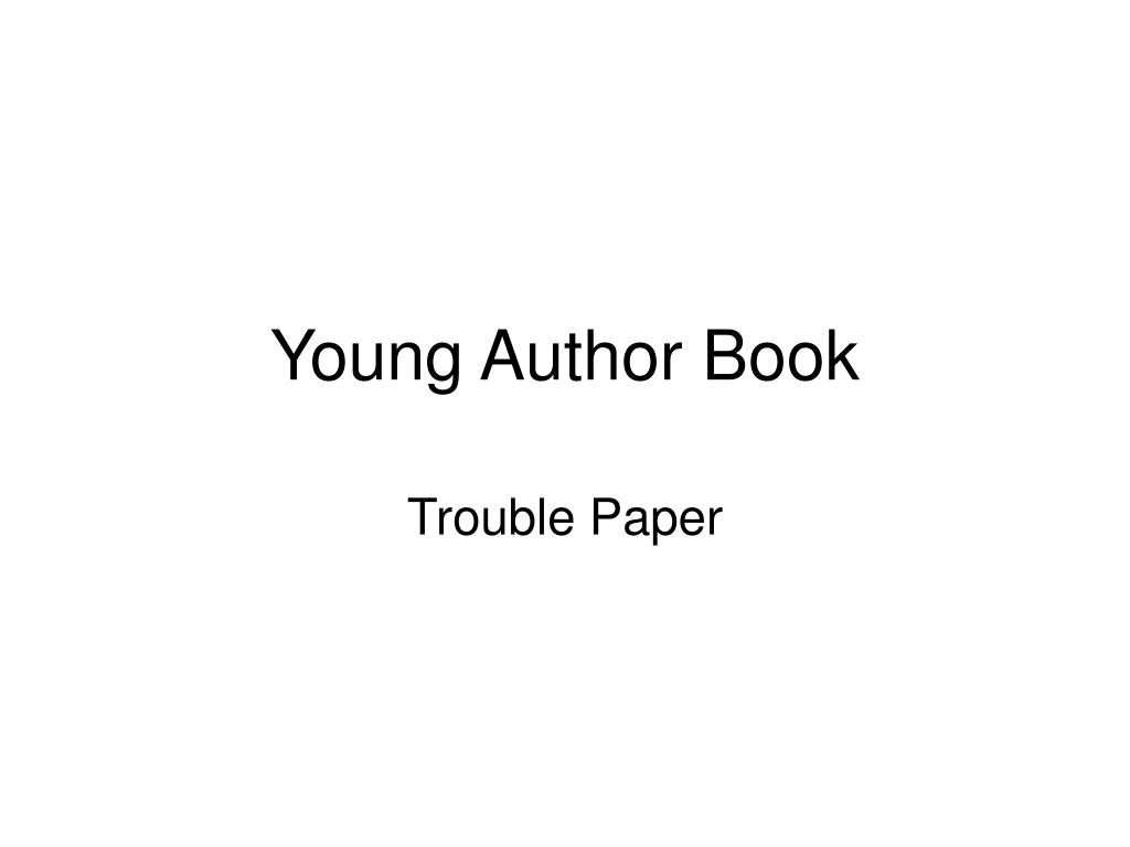 Young Author Book