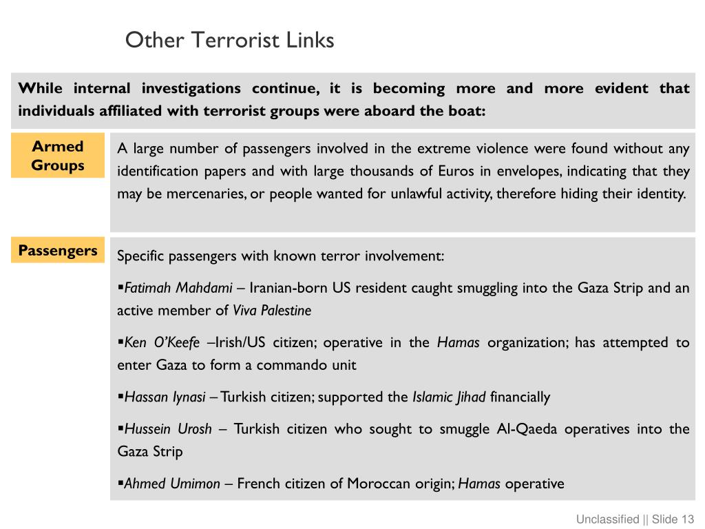 Other Terrorist Links