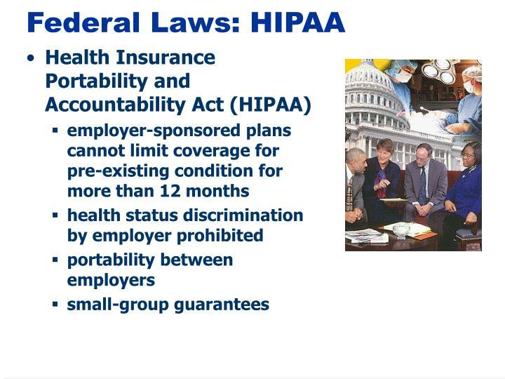 Federal Laws: HIPAA