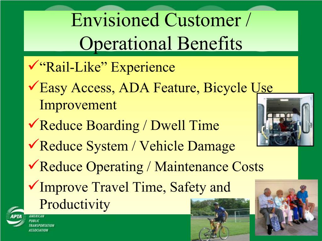 Envisioned Customer / Operational Benefits