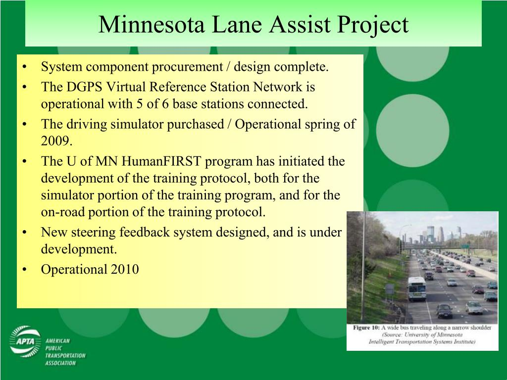 Minnesota Lane Assist Project