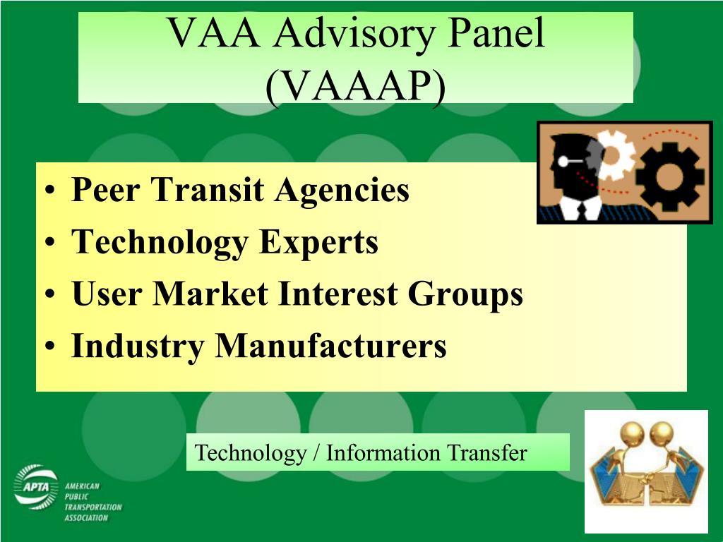 VAA Advisory Panel