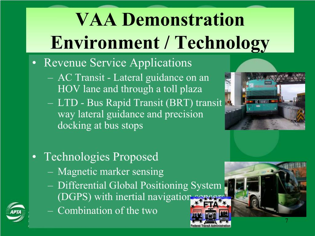 VAA Demonstration Environment / Technology