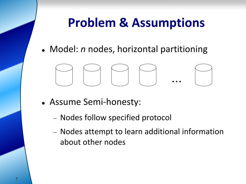 Problem & Assumptions